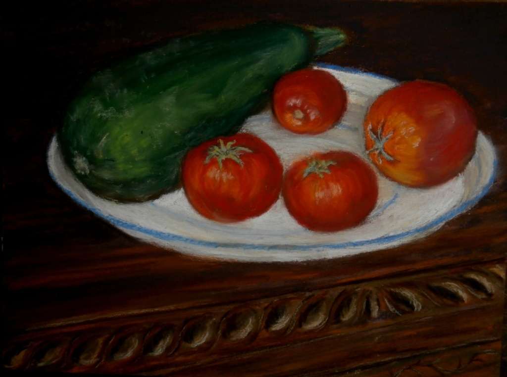 2012 la courgette d'Annette et les tomates d'Estelle