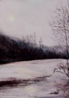 2003 Crépuscule au bord du Doubs