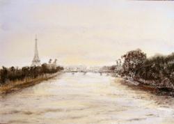 2003 Crépuscule sur la Seine