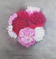 2017 Pivoines en bouquet rond